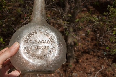 Curaçao liqueur from the N.W.I., the bottle hasn't changed much