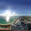Aerial spherical 360 image Blue and Green Diamond Miami Beach International Boat show