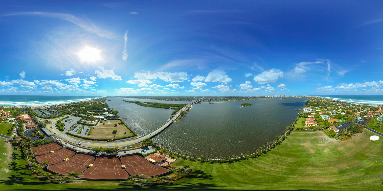 Trump National Golf Club Mar a Lago aerial spherical panorama image