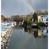 Regenboog, haventje Zwartewaal
