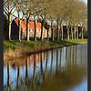 Spiegeling huizen in Zaltbommel