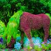 Horse Sculpture at Atlanta Botanical Garden