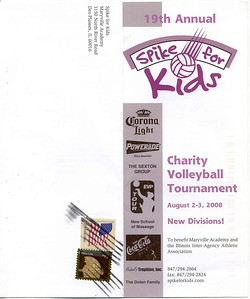 19th Annual Spike for kids flyer-----