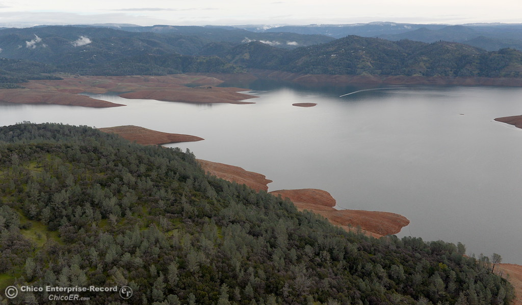 . Lake Oroville is seen during a look at the ongoing construction around the spillway and Lake Oroville Dam area Friday Jan. 26, 2018.  Bill Husa -- Enterprise-Record)