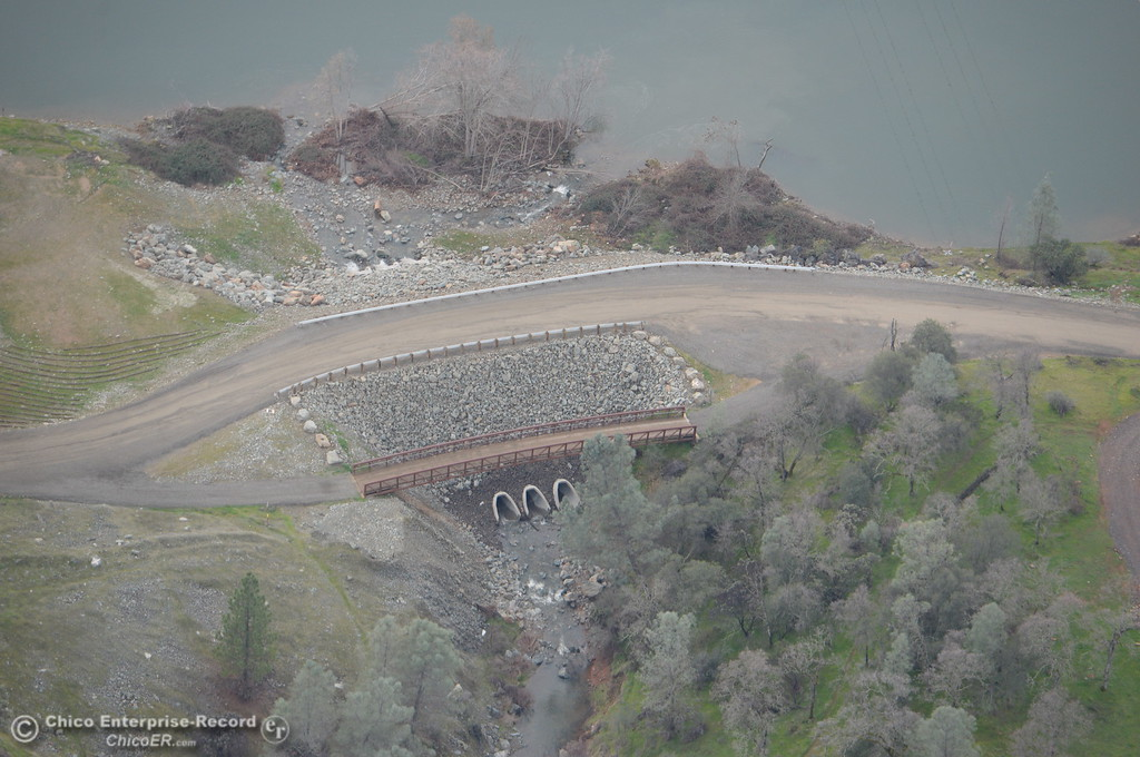 . Some bridges or drainage crossings downstream from the Spillway appear to have been built or improved during a look at the ongoing construction around the spillway and Lake Oroville Dam area Friday Jan. 26, 2018.  Bill Husa -- Enterprise-Record)