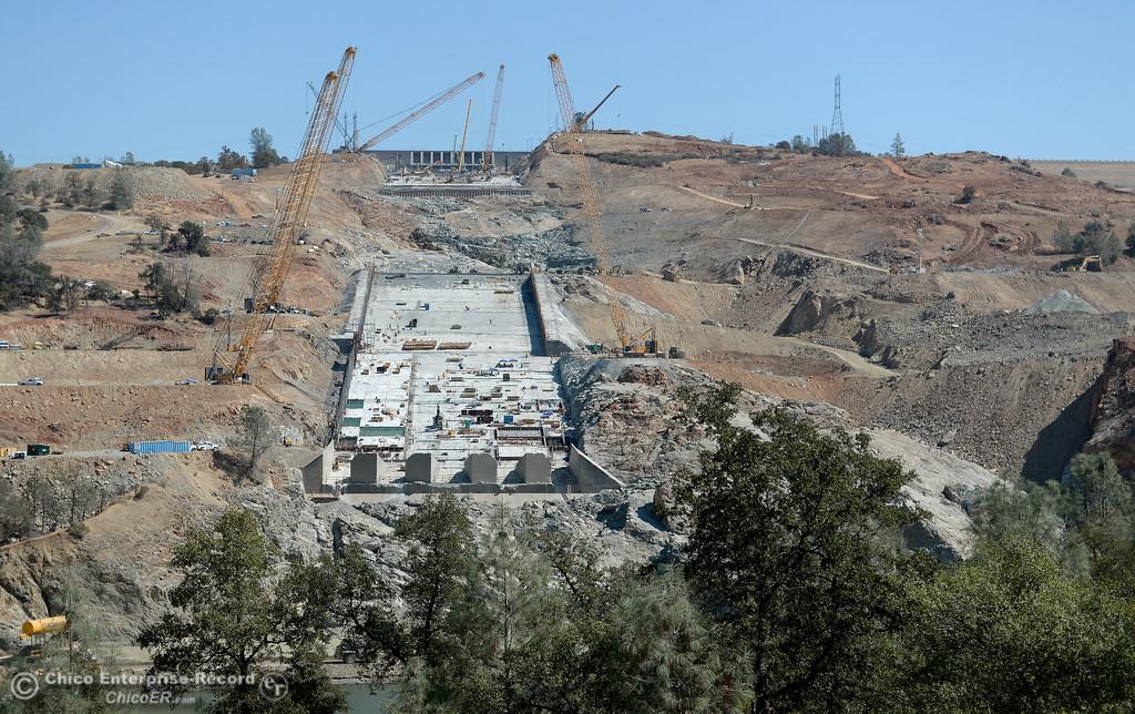 PHOTOS: Oroville Dam Spillway Construction Update 8-29-2017