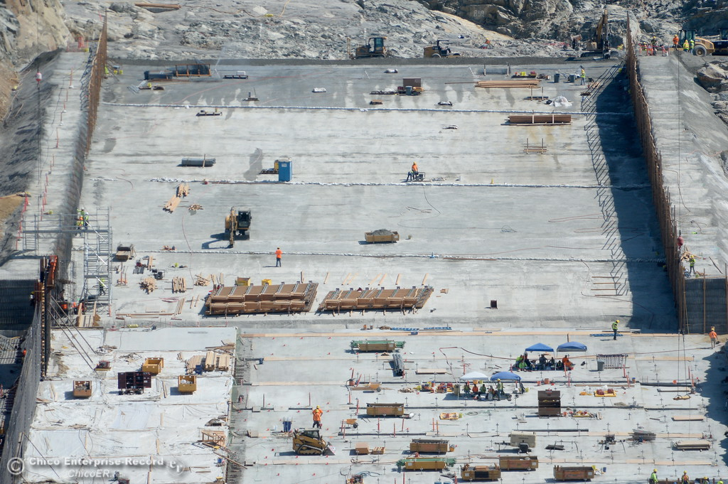 PHOTOS: Oroville Dam Spillway Construction Update 8-29-2017