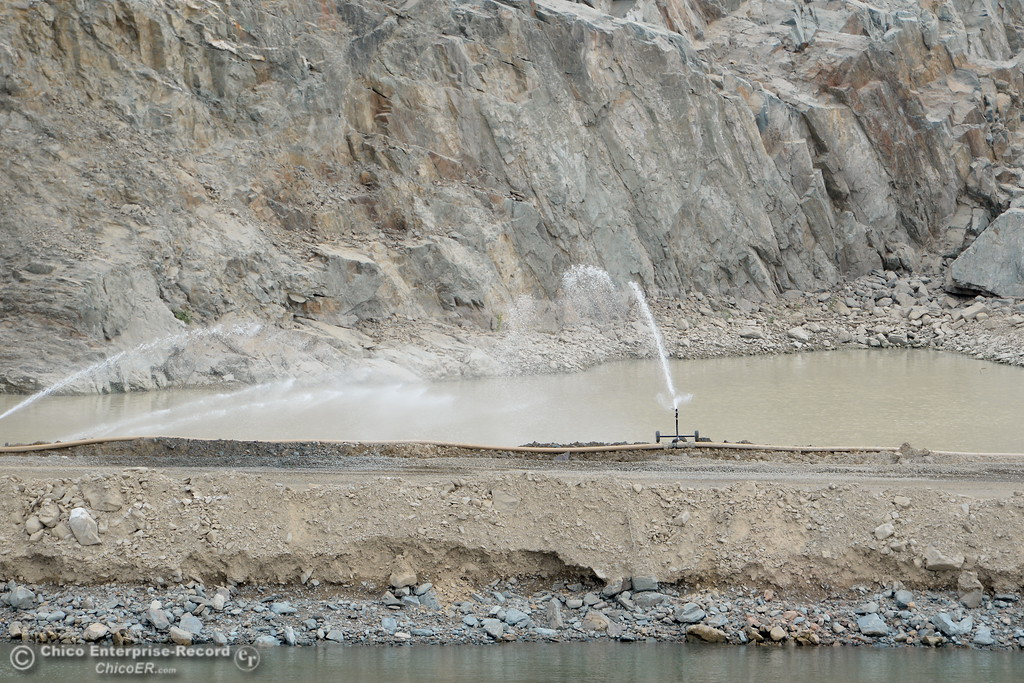 . Work continues on the Lake Oroville Dam Spillway in Oroville, Calif. Thursday Sept. 14, 2017. (Bill Husa -- Enterprise-Record)