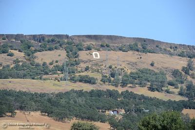 "The Oroville ""O"" seen Saturday, July 1, 2017, on Table Mountain in Oroville, California. (Dan Reidel -- Enterprise-Record)"
