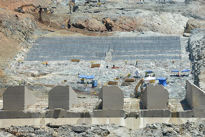 Construction continues Saturday, July 1, 2017, at the Oroville Dam spillway in Oroville, California. (Dan Reidel -- Enterprise-Record)