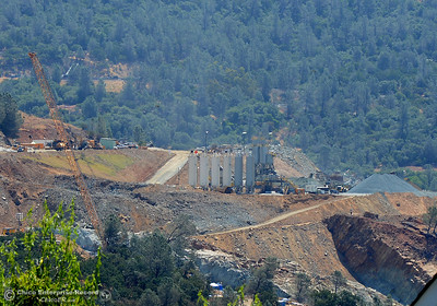 What appears to be a concrete plant is seen as construction continues Saturday, July 1, 2017, at the Oroville Dam spillway in Oroville, California. (Dan Reidel -- Enterprise-Record)