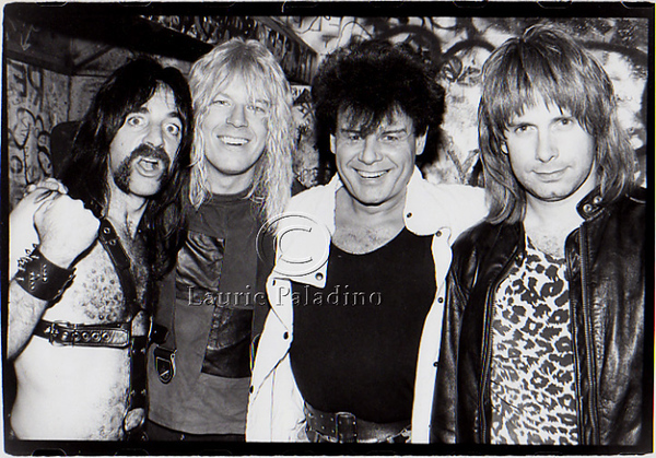 Spinal Tap with Gary Glitter Backstage at CBGB's May 06 1984