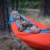 H-W and Jaypeg in the hammock. Reynold's Canyon, Arizona