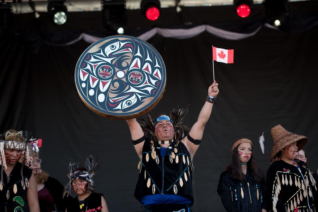 Lekwungen Traditional Dancers   Spirit of 150 Victoria   Victoria BC