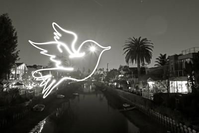 Peace Dove over Venice Canal