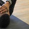 Black Man with Black Hoodie in Meditation