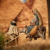 Mary and Joseph flee to Egypt to escape the wrath of King Herod.