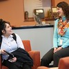 11:45 a.m. Cristo Rey Jesuit High School, MPLS: Senior Maiya Ramirez, left, talks with Kris Donnelly, executive director of the school's Corporate Work Study Program.