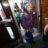 8:58 a.m. St. Peter Catholic School, North St. Paul: Students arrive at the start of the school day.