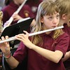 12:54 p.m. Good Shepherd School, Golden Valley: Sixth-grader Alexis Murphy plays the flute during band class.