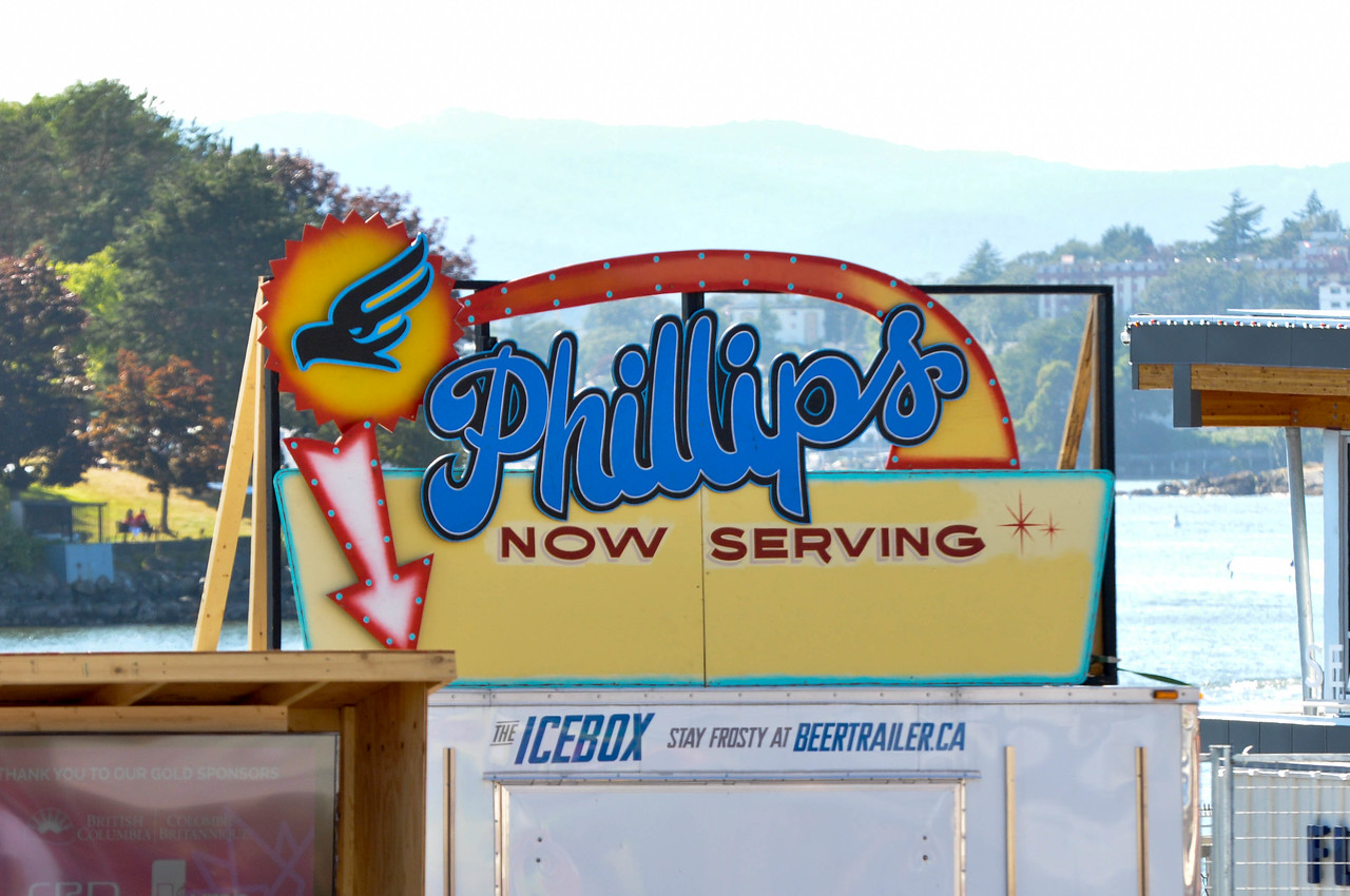 Ship Point Roving Shots - Phillips Beer Sign