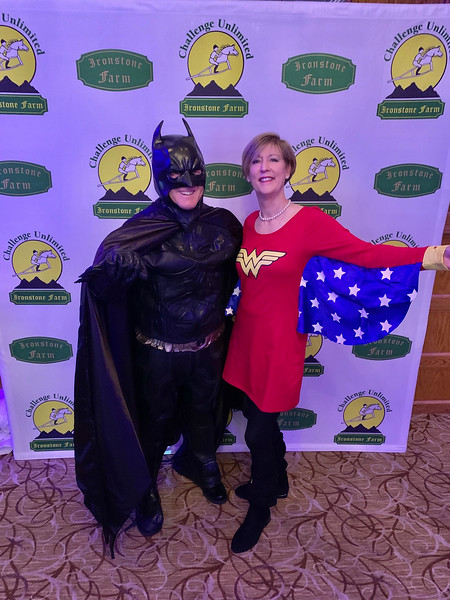 Batman, aka John Hayes of Rye, N.H., and Wonder Woman, aka MaryRuth Luther of Andover