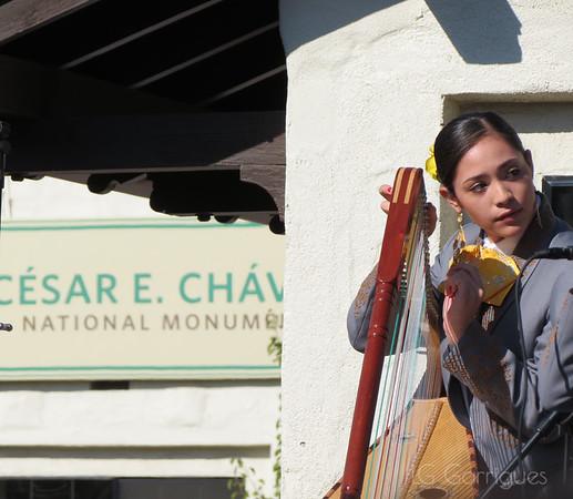 Musician, Cesar Chavez National Monument, Keene, CA
