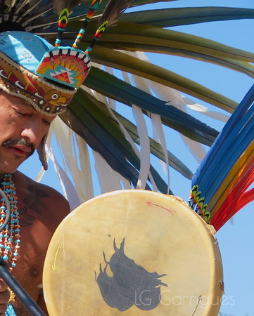 Performer at Cesar Chavez National Monument, Keene, California