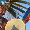 Performer at Cesar Chavez National Monument, Keene, California