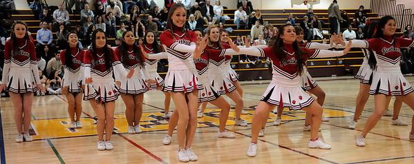 Burlingame Cheer at Menlo Atherton Varsity Men vs. Burlingame, 2011-02-04