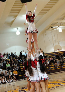 Burlingame Cheer at Menlo Atherton Varsity Men vs. Burlingame, 2011-02-04