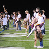 Dance Team promoting Big Band Dance at the Menlo Atherton Varsity Football vs. Menlo School 2013-11-08