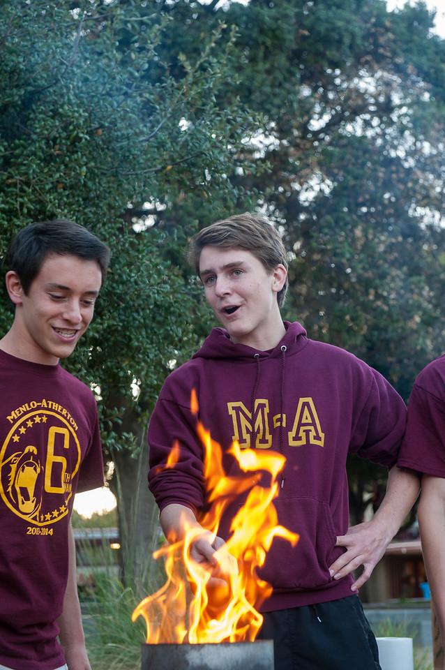 Menlo Atherton Spirt BBQ before the M-A Varsity Football vs. Sacred Heart Prep,2013-10-18