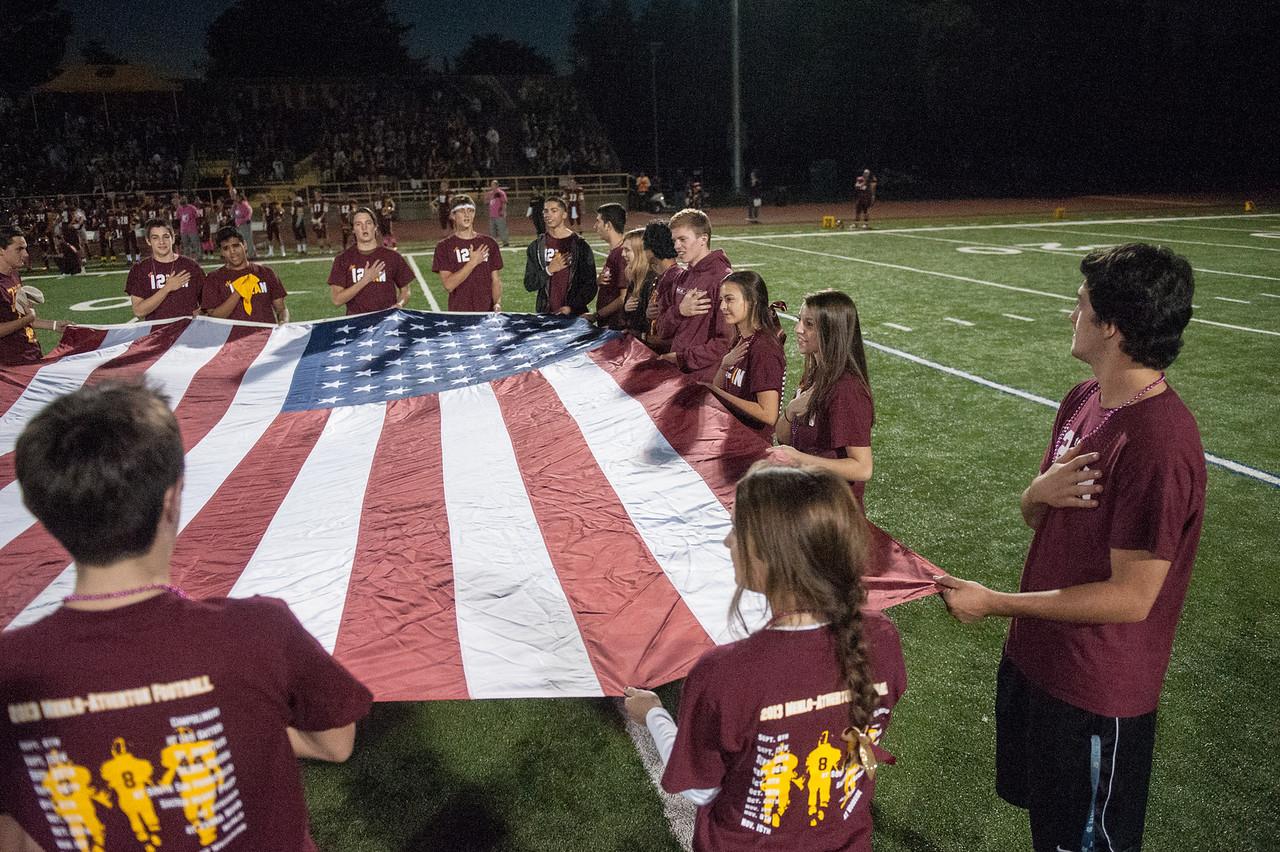 Menlo Atherton Spirt at the M-A Varsity Football vs. Sacred Heart Prep,2013-10-18