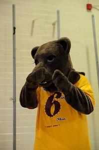 Menlo Atherton Mascot at Varsity Men vs. Burlingame, 2011-02-04