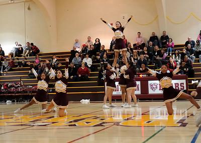 Menlo Atherton High Cheer at Menlo Atherton Varsity Men vs. Burlingame, 2011-02-04