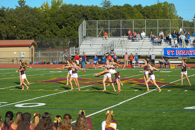 Menlo-Atherton high Dance Team performing at the Frosh Soph Football vs. St. Ignatius College Preparatory, 2013-09-20