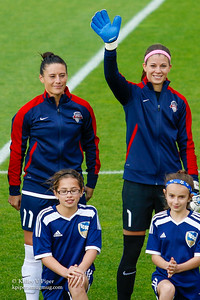 Ali Krieger and Stephanie Labbé - Player Introductions (14 May 2016)