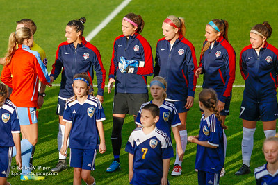 Kealia Ohai, Ali Krieger, Stephanie Labbé, Megan Oyster, Shelina Zadorsky, and Christine Nairn - Player Introductions (14 May 2016)