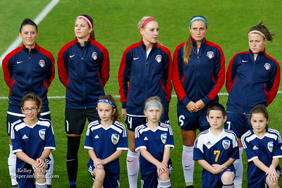 Ali Krieger, Stephanie Labbé, Megan Oyster, Shelina Zadorsky, and Christine Nairn - Player Introductions (14 May 2016)