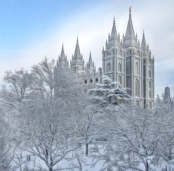 Salt Lake Temple in Winter