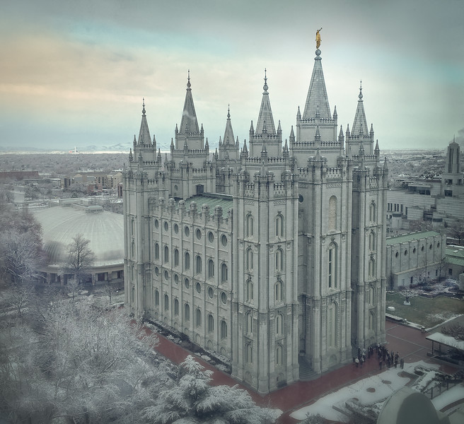 Salt Lake Temple in Winter