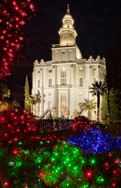 St George Temple at Christmas