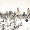 Manti Temple in Snow