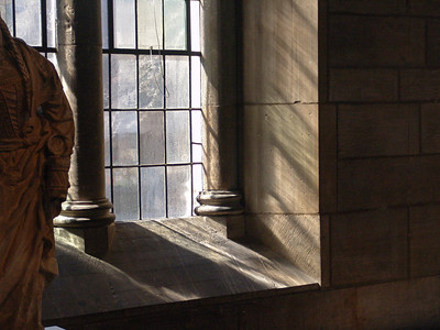 Light through old glass at Yale Sculpture gallery, New Haven, CT