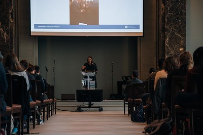 Heather Rice-Minus speaks at Chapel