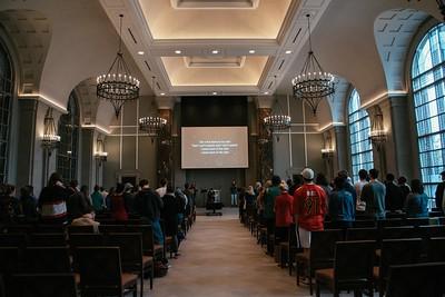 Julianna Zobrist speaks in Chapel