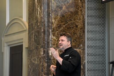 Brett Swayn speaks at Chapel