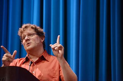 Dr. David Dark speaks during a service