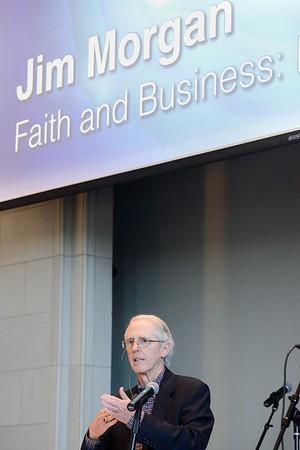 Jim Morgan of Krispy Kreme speaks at Chapel